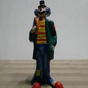Other - CLOWN paper mache hand crafted & painted figurine